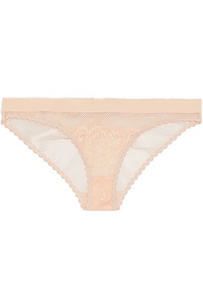 STELLA McCARTNEY Corded lace and stretch-mesh low-rise briefs