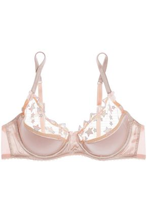 MIMI HOLLIDAY by DAMARIS Angel Face embroidered tulle and satin push-up bra