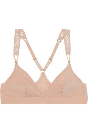 STELLA McCARTNEY Stella stretch-jersey and mesh soft-cup triangle bra