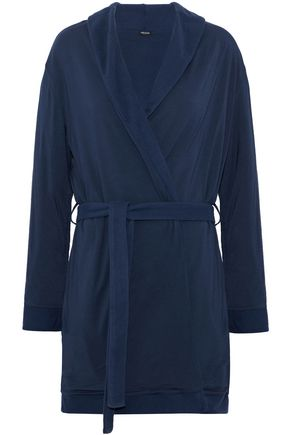 HEIDI KLUM INTIMATES Reversible modal-blend fleece robe