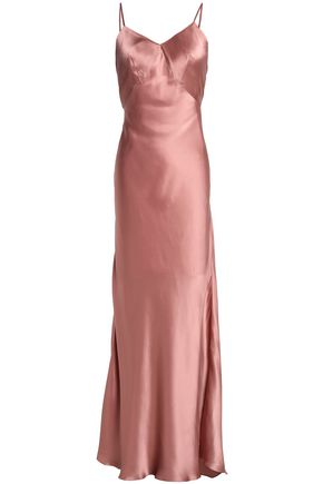 THREE GRACES LONDON Silk-satin slip dress