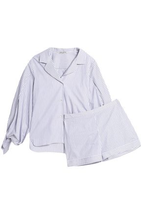 THREE GRACES LONDON Striped cotton pajama set