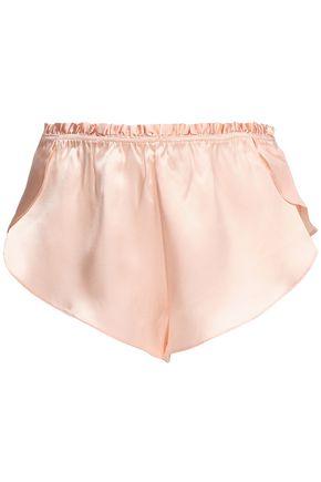 THREE GRACES LONDON Silk-satin pajama shorts
