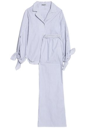 THREE GRACES LONDON Knot-detailed cotton pajama set