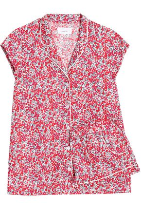THREE J NYC Floral-print cotton-poplin pajama set