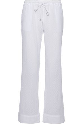 SKIN Fil coupé cotton-gauze pajama pants