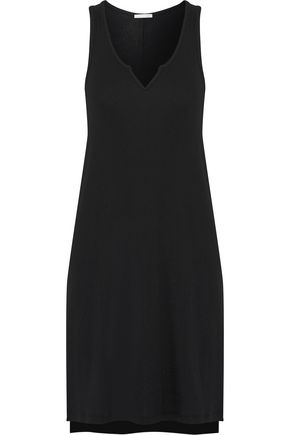 SKIN Ribbed-jersey nightdress
