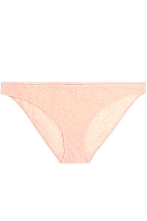 STELLA McCARTNEY Flocked mesh mid-rise briefs