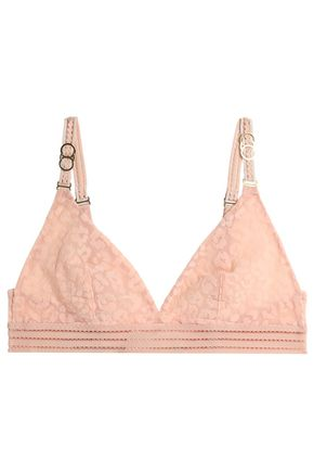STELLA McCARTNEY Flocked tulle triangle bra