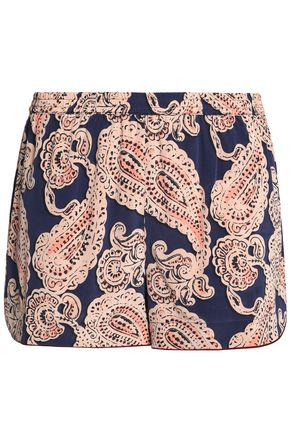 STELLA McCARTNEY Poppy Snoozing printed stretch-silk pajama shorts