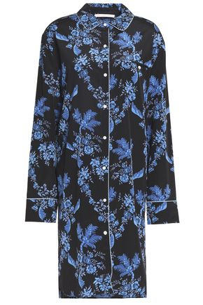 STELLA McCARTNEY Floral-print stretch-silk nightshirt
