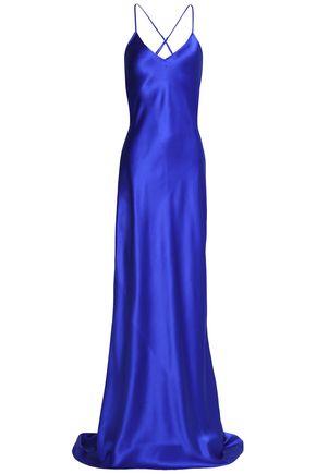 OLIVIA VON HALLE Silk-satin nightdress