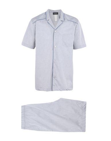 HANRO メンズ パジャマ ライトグレー S コットン 100% SKY
