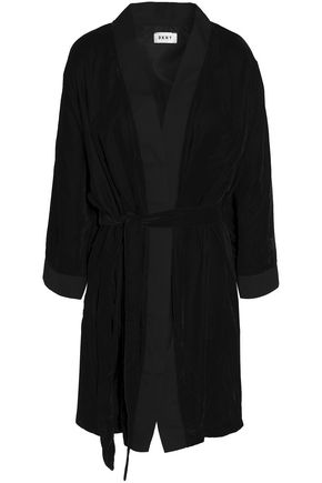 Dkny DKNY WOMAN VELVET ROBE BLACK