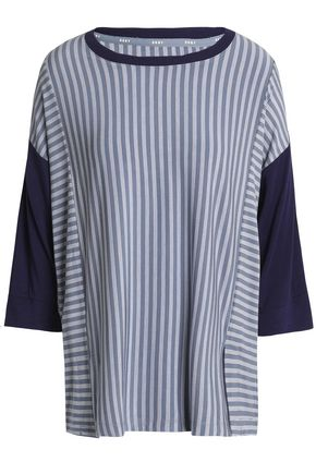 DKNY Striped modal-blend jersey pajama top