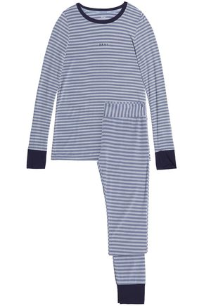 DKNY Striped stretch-modal jersey pajama set