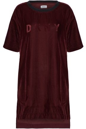 DKNY Embossed velvet nightshirt