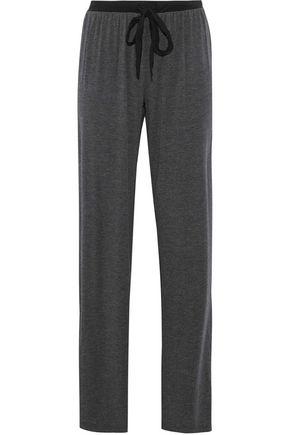 DKNY Chiffon-trimmed slub modal-blend pajama pants