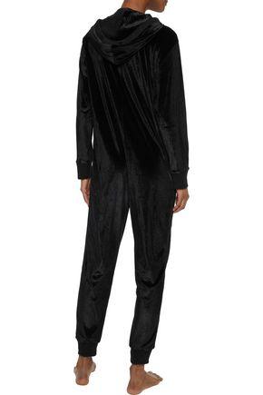DKNY Velvet hooded jumpsuit