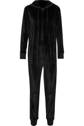DKNY Velvet hooded jumpsuit