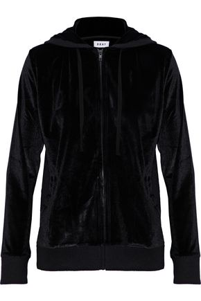 DKNY Metallic velour hooded pajama top