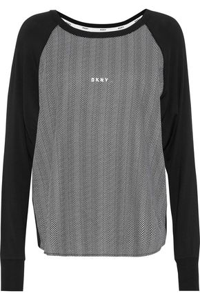DKNY Printed jersey pajama top