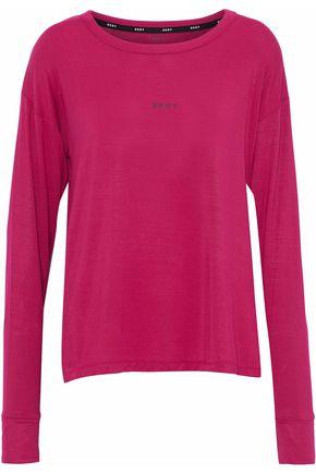 DKNY Printed stretch modal-jersey pajama top