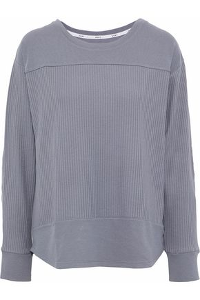 DKNY Ribbed cotton-blend jersey pajama top