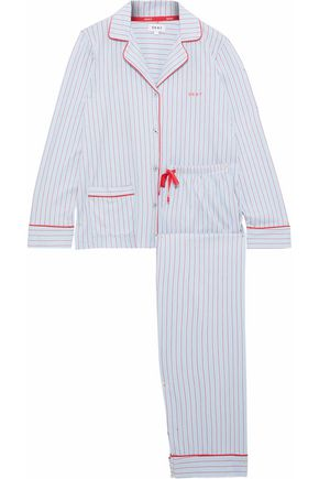 DKNY Checked cotton-blend jersey pajama set