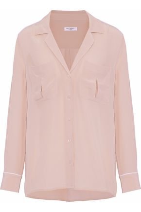 EQUIPMENT Silk crepe de chine pajama top