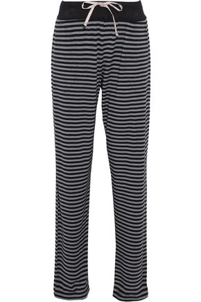 DKNY Striped stretch modal-jersey pajama pants