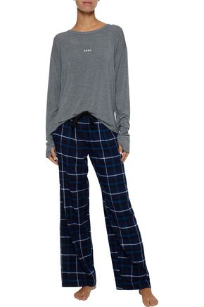 DKNY Checked flannel pajama pants