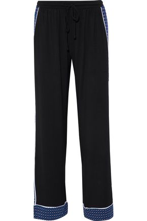 DKNY Paneled stretch-modal jersey pajama pants