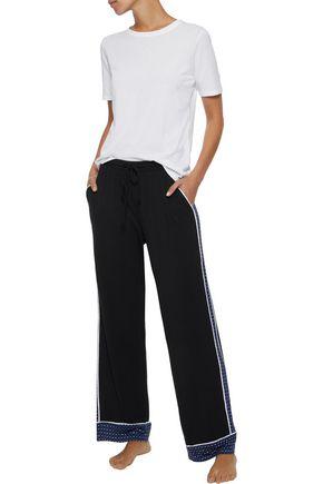DKNY Paneled stretch-modal jersey pajama pants