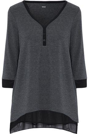 DKNY Chiffon-trimmed stretch modal-jersey pajama top