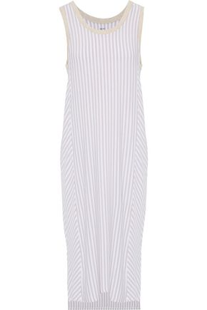 DKNY Striped stretch-modal-jersey nightdress