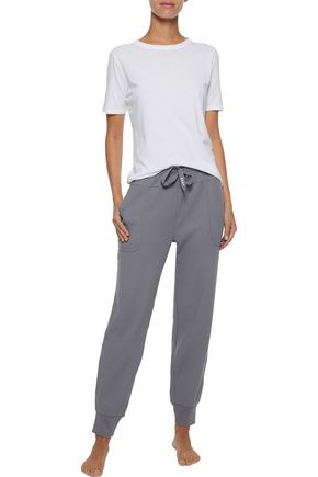 Ribbed Cotton Blend Jersey Pajama Pants by Dkny