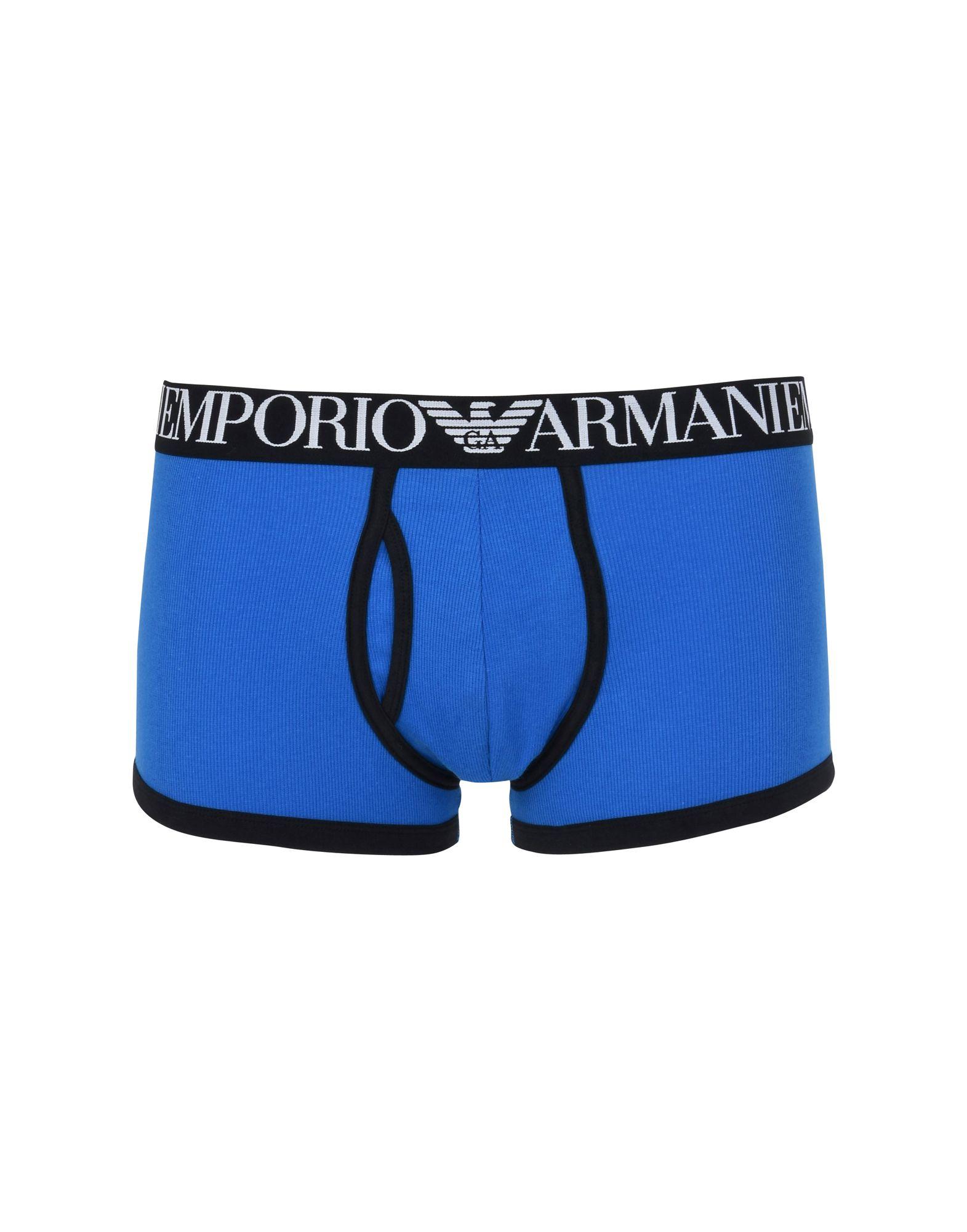 メンズ EMPORIO ARMANI MEN'S KNIT TRUNK トランクス ブルー