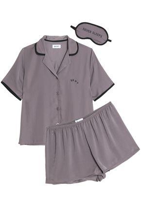 DKNY Striped stretch-jersey pajamas