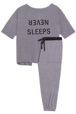 DKNY Printed modal-blend jersey pajama set