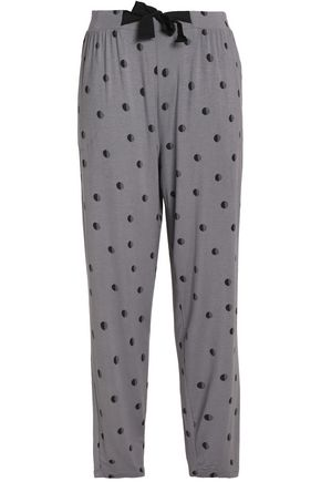 DKNY Printed stretch-modal pajama pants