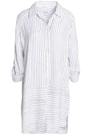 DKNY Striped twill nightshirt
