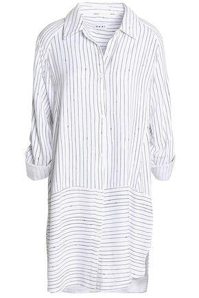 DKNY Striped twill nightshirt