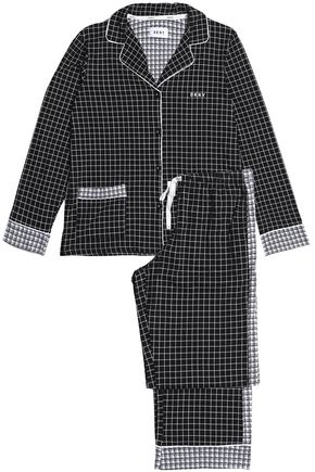 DKNY Printed cotton-blend poplin pajama set