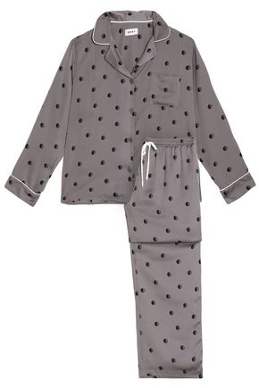 DKNY Polka-dot satin pajama set
