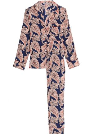 STELLA McCARTNEY Poppy Snoozing printed silk-blend pajama set