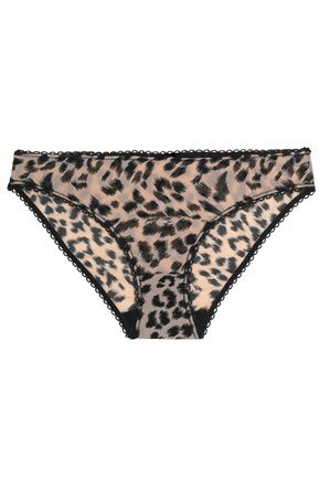STELLA McCARTNEY Leopard-print mesh low-rise briefs