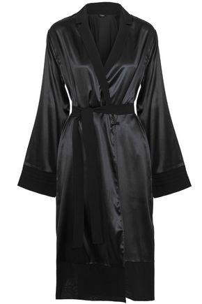 LA PERLA Stretch-silk satin robe