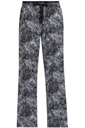 Printed Cotton Poplin Pajama Pants by Calvin Klein