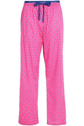 CALVIN KLEIN Printed cotton-poplin pajama pants